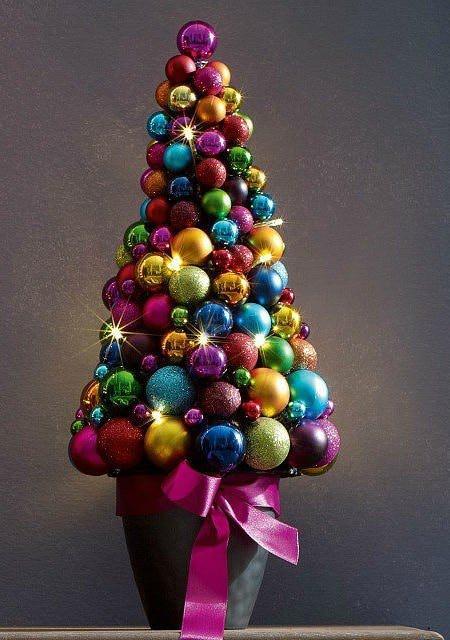 Новогодний топиарий «Елочка» является одним из красивейших декоративных украшений. Сделать его просто – а результат поразит всех