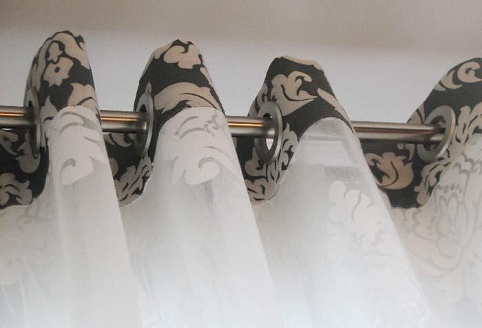 Верхний край тюля необходимо продублировать флизелином или другой плотной тканью