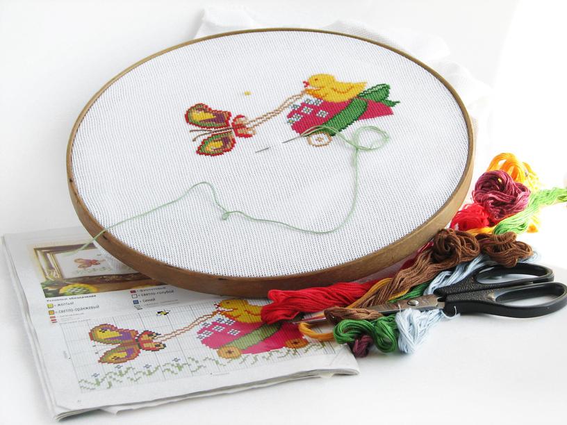 Пяльцы - важный инструмент при вышивке крестиком