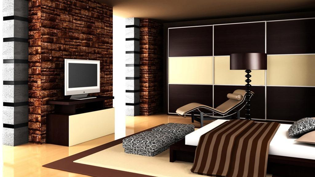 Стильно разнообразить коричневую спальню можно натуральной мебелью, которая является экологичной и безопасной для здоровья