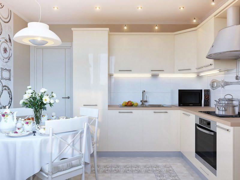 Кухонная мебель, выполненная в единой цветовой гамме, делает интерьер более целостным и завершенным