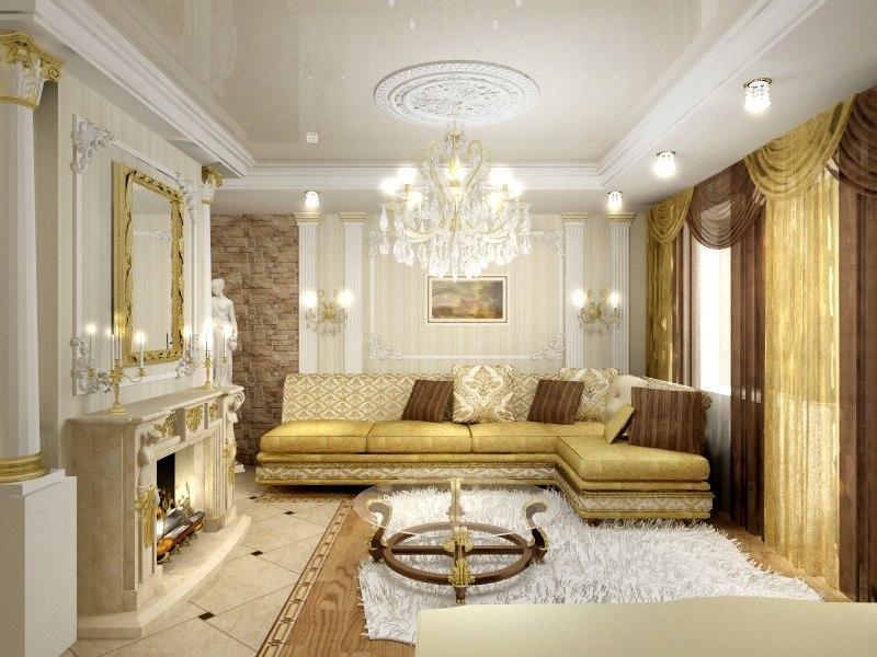 Чтобы зал смотрелся уютнее, можно повесить в нем фотографии или картины