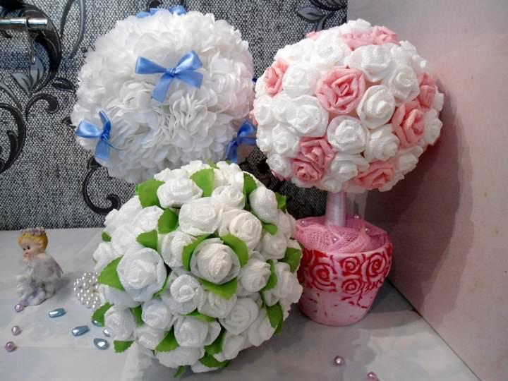 Нежнейшие цветы для дерева счастья можно изготовить из обыденной вещи – сервировочных салфеток