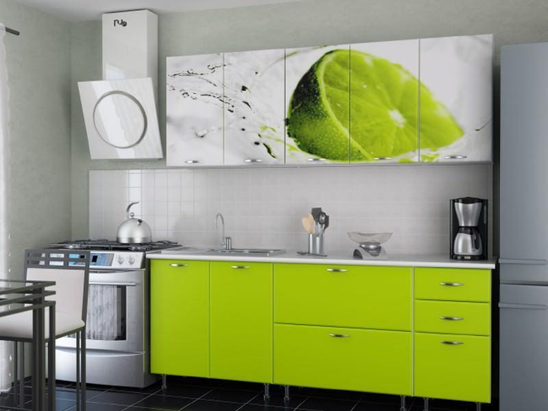 Лаймовый оттенок в интерьере кухни сегодня занимает лидирующую позицию среди общей палитры цветов и красок