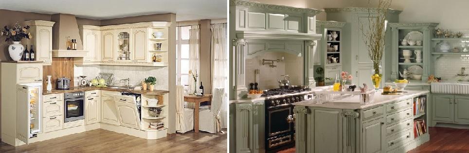 Кухонные интерьеры в стиле кантри и прованс