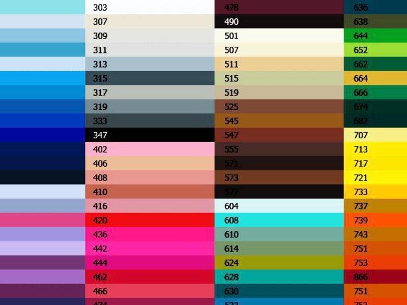 Таблица цветов натяжных потолков – это отличный помощник для тех, кто не может определиться с выбором цвета