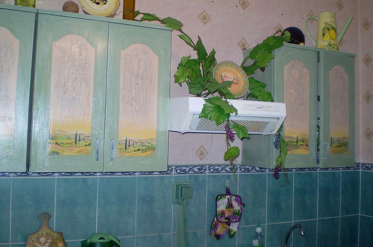5 Декупаж старого шкафа своими руками фото: кухонный мастер-класс, как сделать оформление двери шкафчика