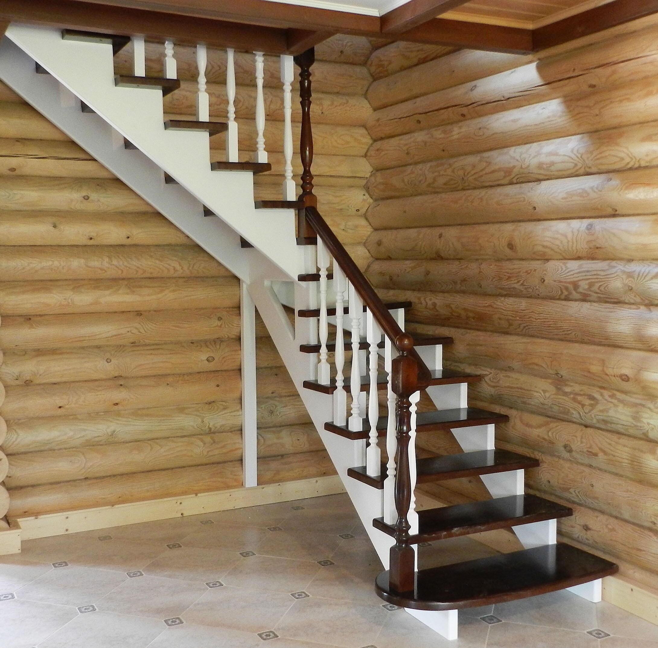 Лестницы из дерева на второй этаж фото