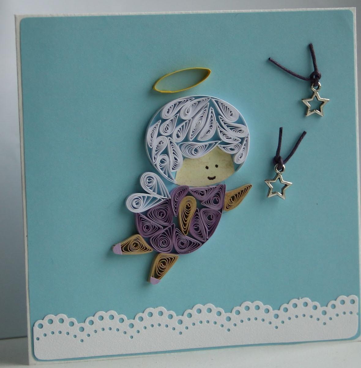 Дети, рождественские открытки с ангелочком своими руками
