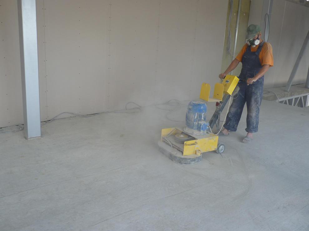 циклевка бетона