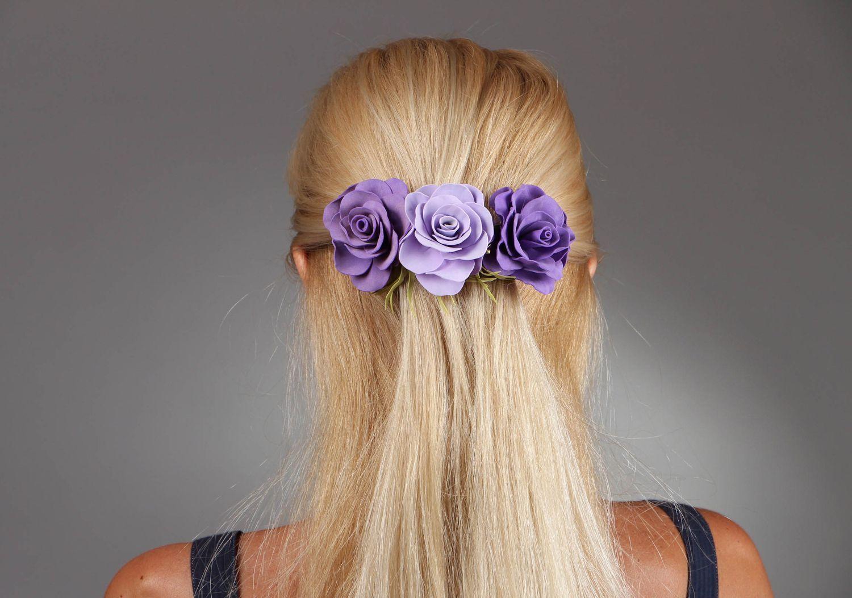 -из-фоамирана-31 Заколки из фоамирана: цветы своими руками, фото и для волос мастер-класс, ободок автомат, МК с розой как сделать