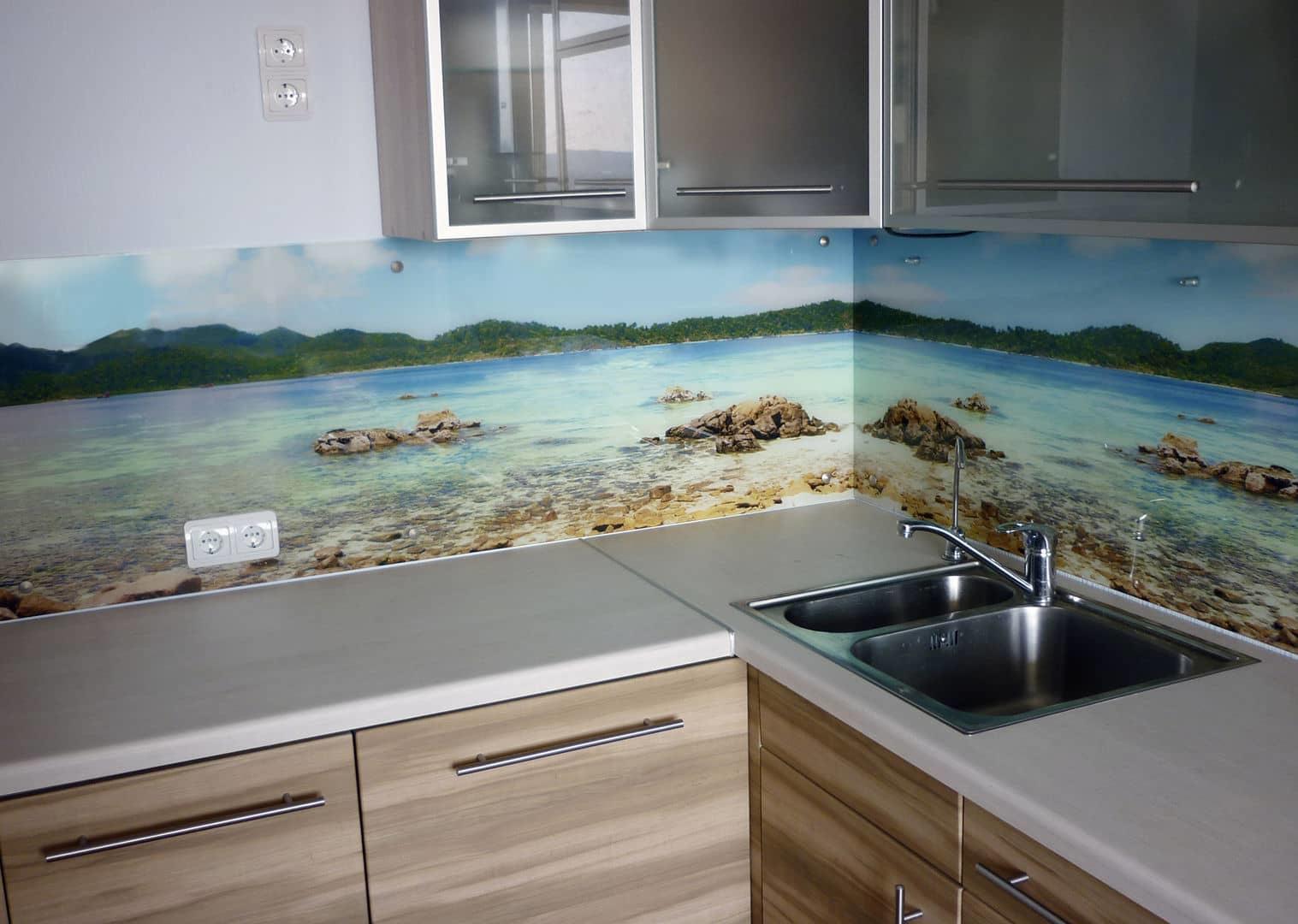 стеновые панели на кухню с фотопечатью недорого