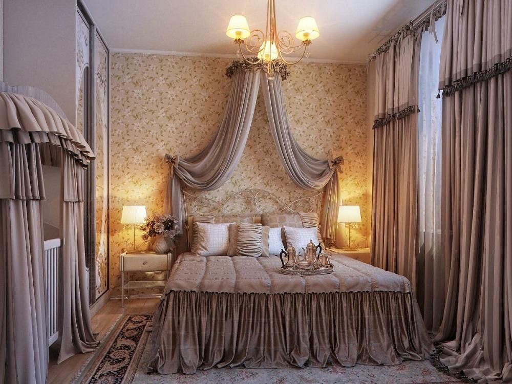Текстильные шторы отлично впишутся в классический интерьер, придав ему роскоши