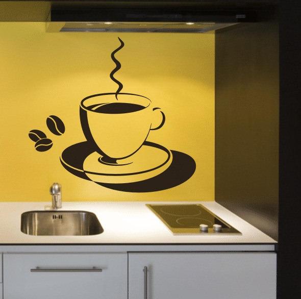 Изображение чашки кофе на кухне уже стало классикой