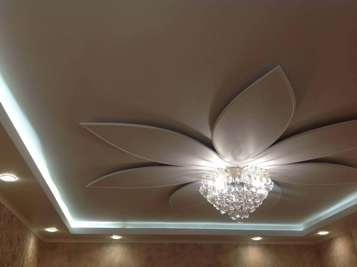 Чертеж потолка из гипсокартона с подсветкой