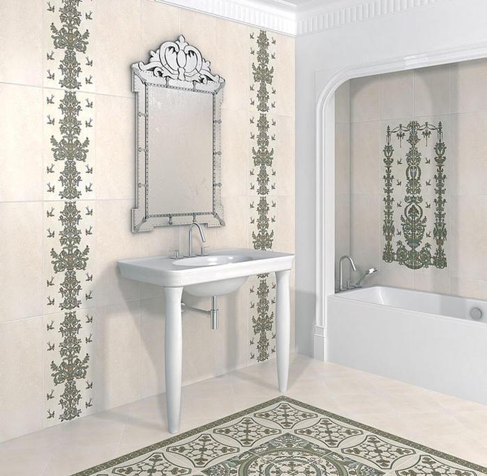 Напольная и настенная керамическая плитка от известного бренда может занять достойное место в интерьере любого пространства