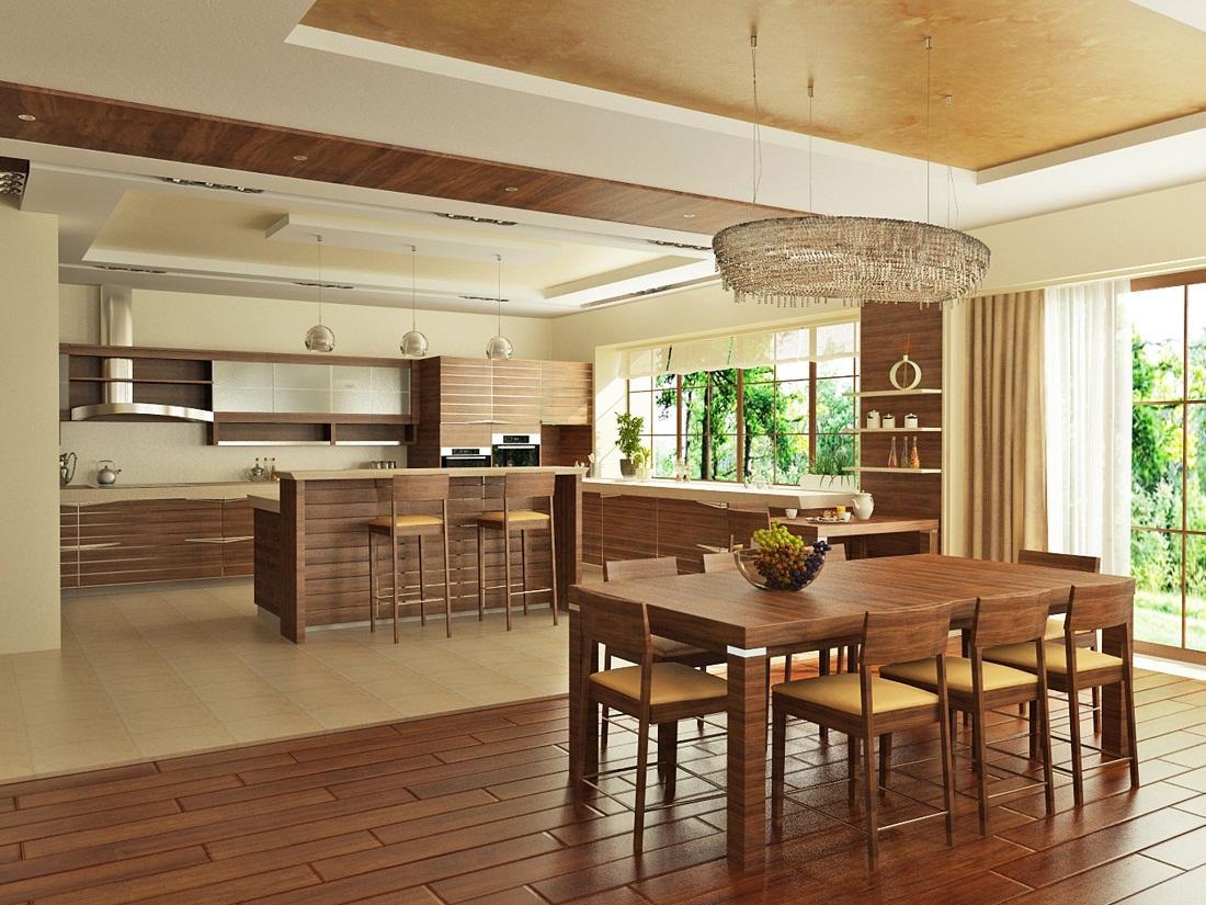 Фото кухонь столовых них