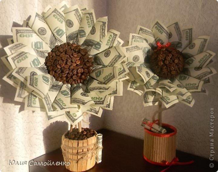 1363103354-876b20fd56f78d022b2510ef90a7c3f4 Как сделать топиарий из купюр своими руками мастер-класс: деньги и материалы для его изготовления