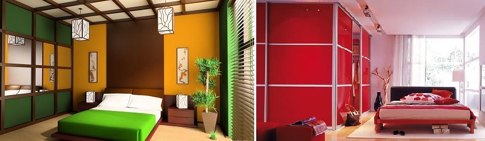 Среди последних трендов дизайна спальни – мебель ярких, насыщенных цветов, приятная взору и положительно влияющая на атмосферу помещения