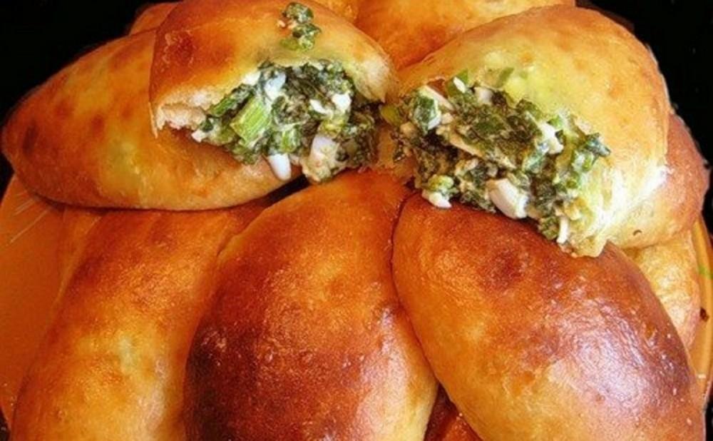 Пирожки с зеленью, пошаговый рецепт с фото
