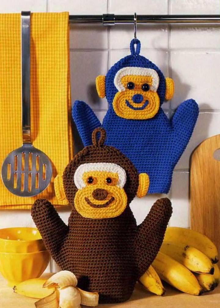 180222a_01 Прихватка-обезьянка: видео-уроки с описанием и фото