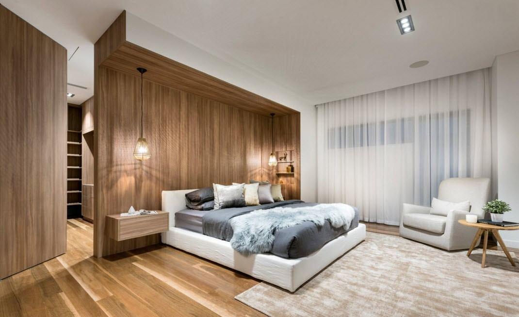 Современный дизайн спальной комнаты должен включать только натуральные и экологичные материалы