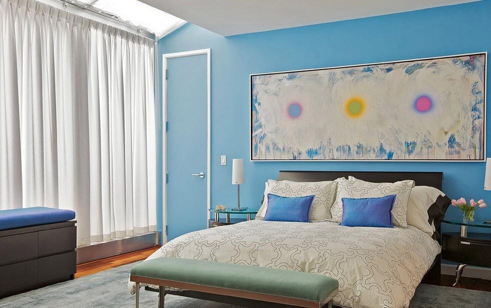 Спальня в голубых тонах картинки это