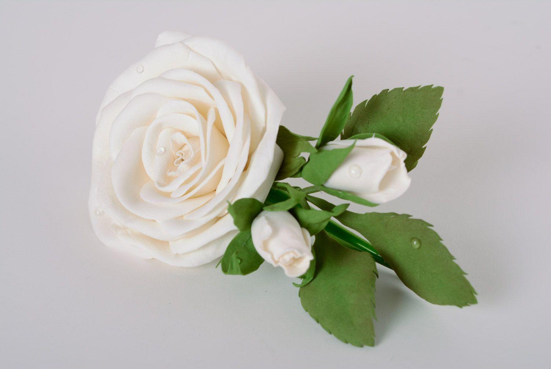 1_05_2 Заколки из фоамирана: цветы своими руками, фото и для волос мастер-класс, ободок автомат, МК с розой как сделать