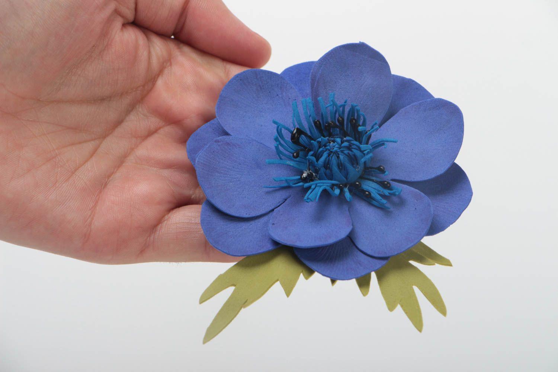 1_3_IMG_0271 Заколки из фоамирана: цветы своими руками, фото и для волос мастер-класс, ободок автомат, МК с розой как сделать