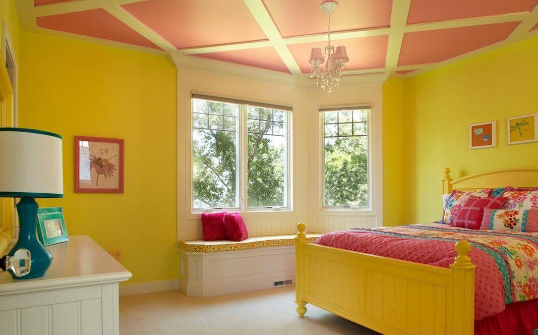 Гипсокартон является пластичным материалом, поэтому с его помощью можно сделать потолок в детской спальне практически любой формы
