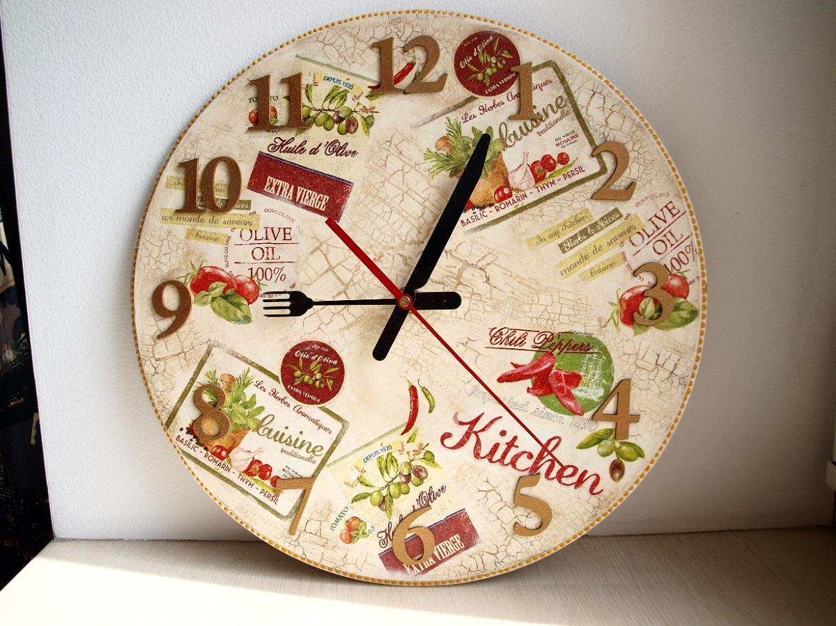 почему-то декупаж картинки кухня часы аксессуар любого