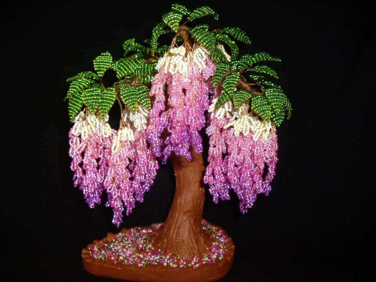 2-min45 Как сделать дерево из бисера своими руками для новичков и начинающих: пошаговая инструкция с фото. Схемы плетения красивых деревьев из бисера: мастер класс