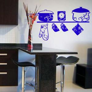 Трафареты для кухни позволят заметно освежить дизайн кухни небольшими штрихами
