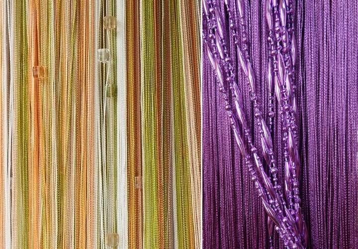 В интернете можно найти оптимальный вариант декора для будущих нитяных штор