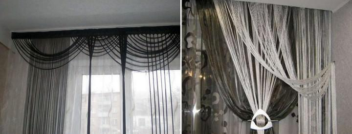 При помощи магнитов, прищепок, заколок и декоративных подвесов можно моделировать текстильное оформление окна на свое усмотрение