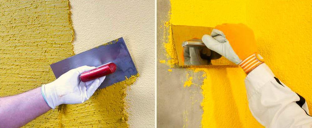 В процессе работы с жидким материалом, обязательно пользуйтесь защитными перчатками