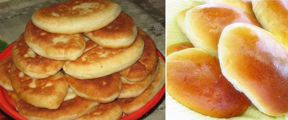 С одного теста можно делать пирожки с яблоками как в духовке, так и на сковороде