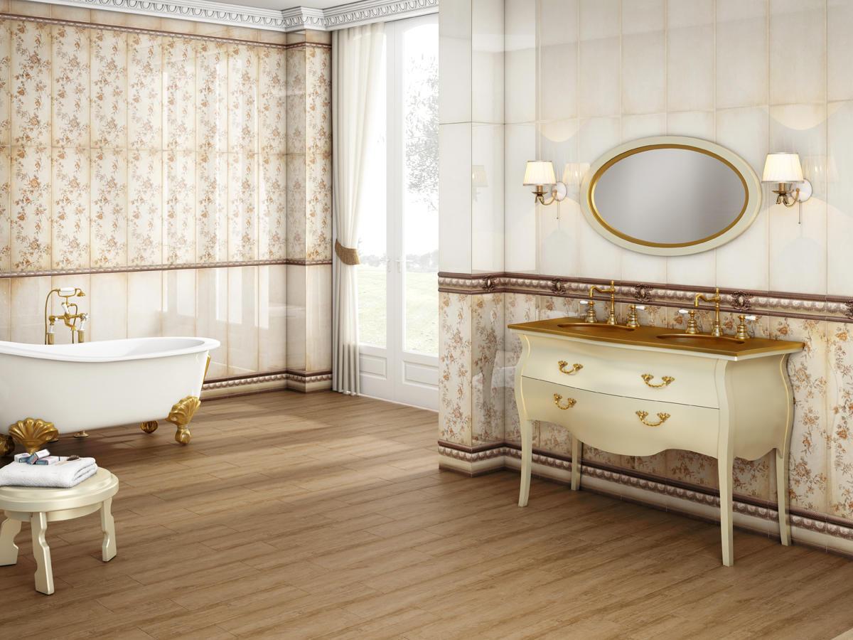При выборе испанской плитки для ванной следует учитывать ее площадь
