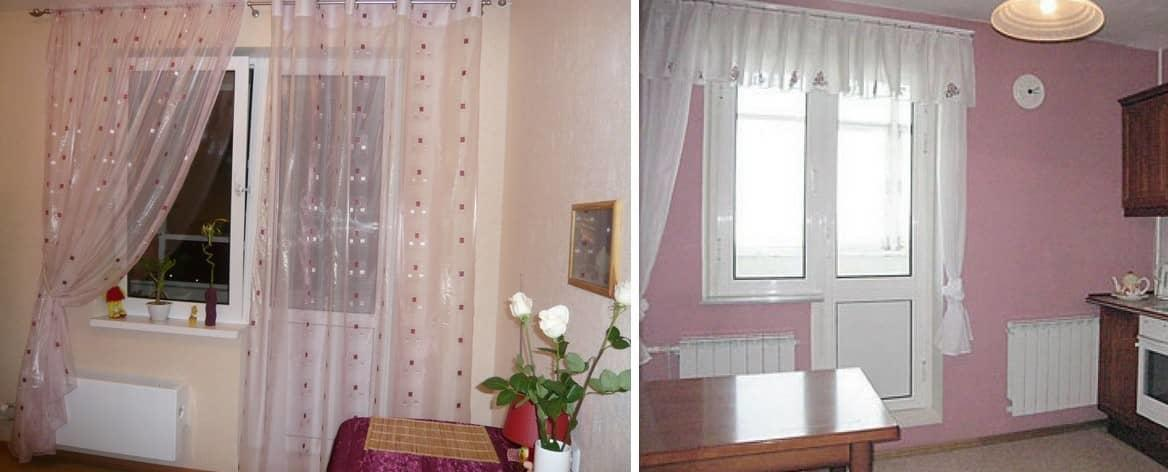 Самым популярным вариантом на сегодняшний день по оформлению окон с балконом являются гардины