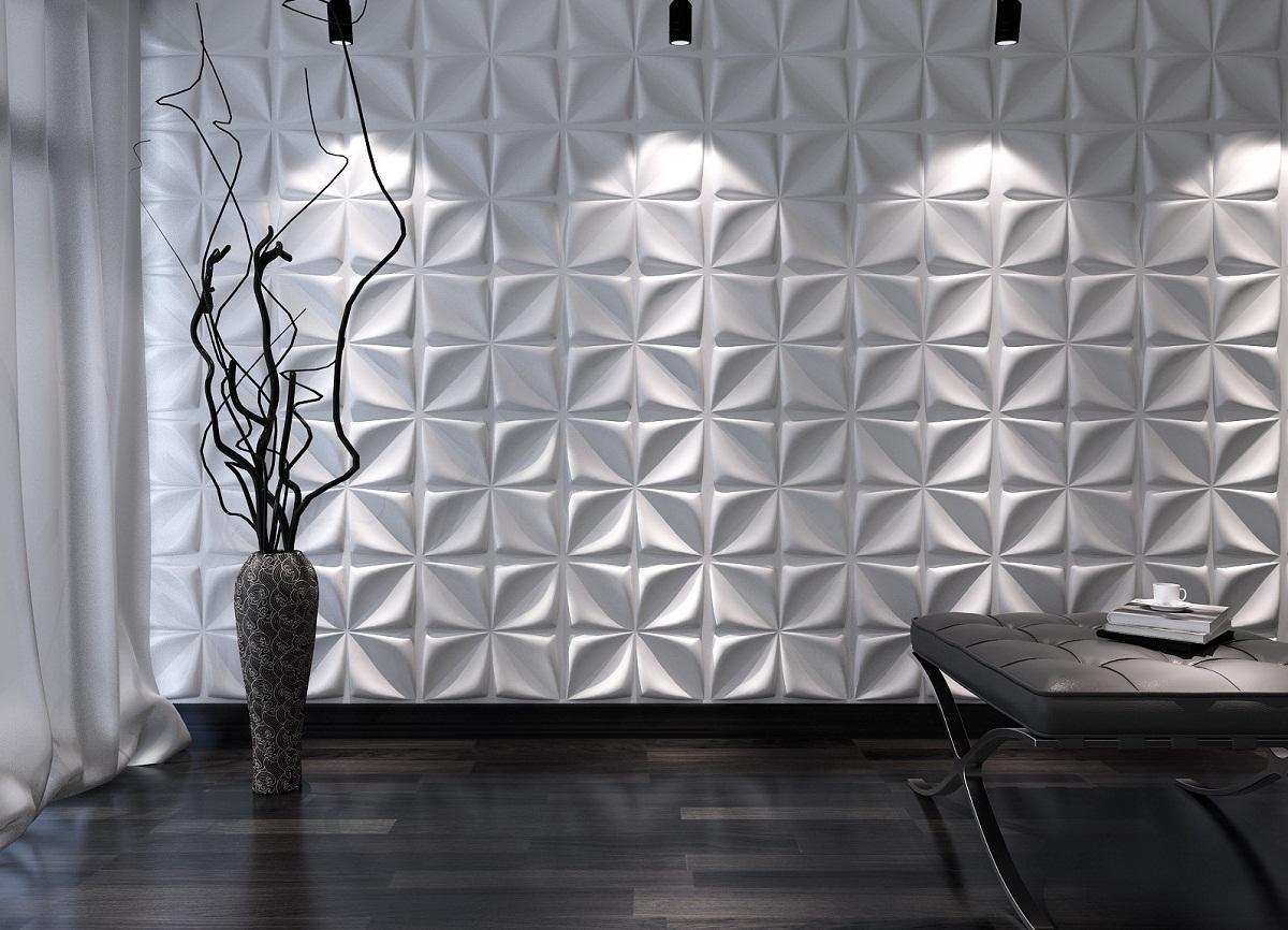 С помощью потолочной плитки можно придать стенам любой комнаты оригинальности