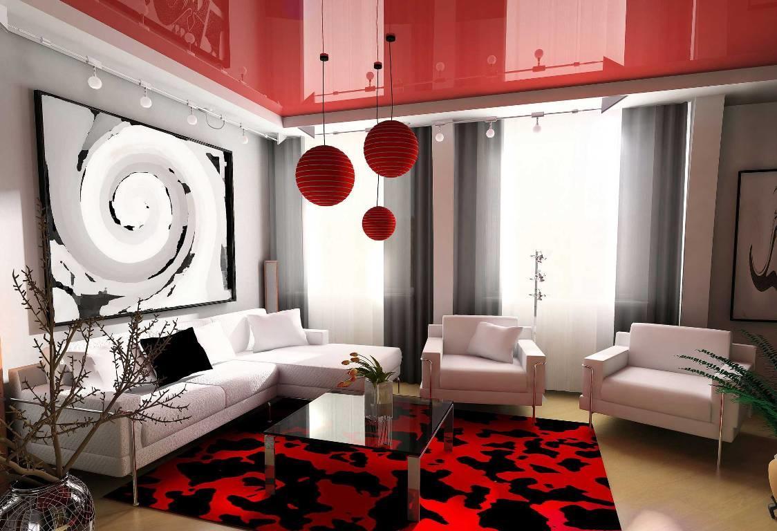 Правильно подобранное сочетание цветов натяжного потолка поможет сделать интерьер помещения более ярким и интересным