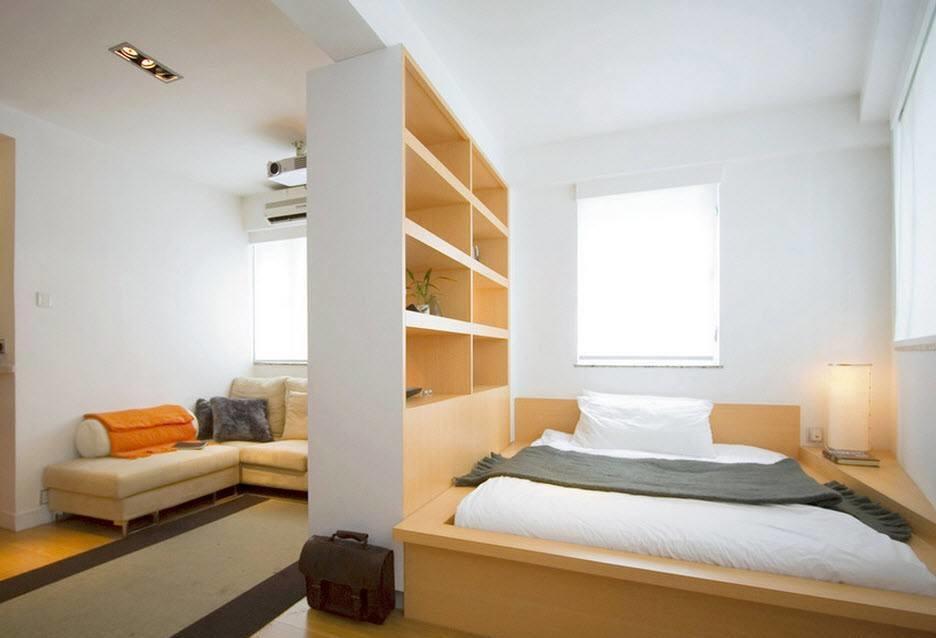 Разграничить пространство вам поможет мебель или другие предметы декора