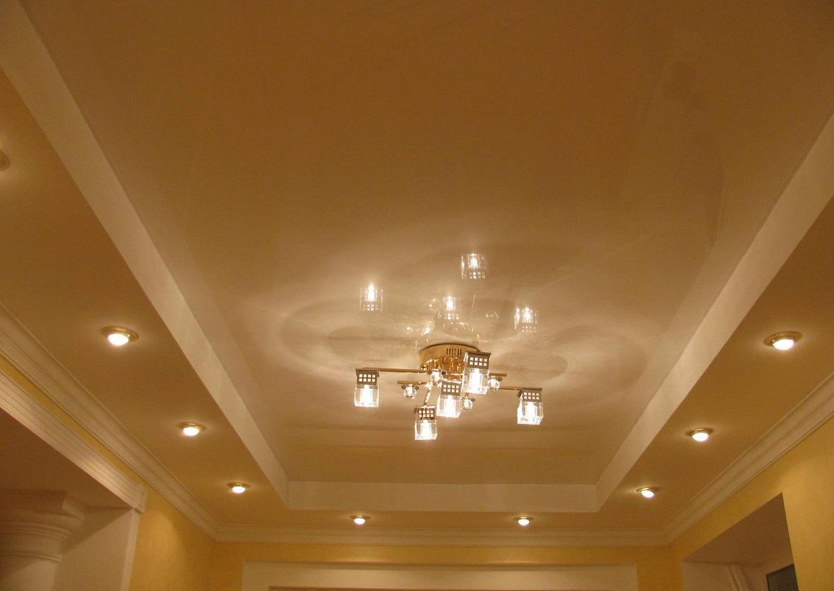 подвесные потолки фото для зала двухуровневые ярусов
