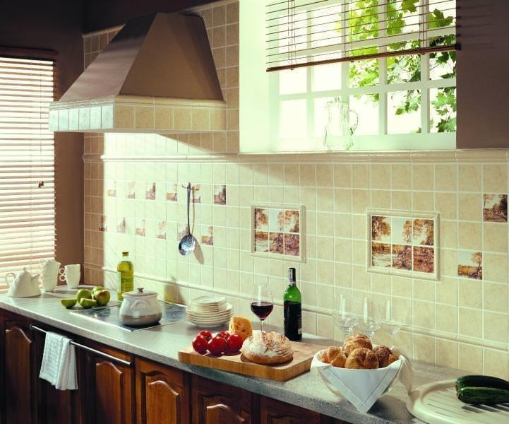 Стиль прованс подразумевает декорирование стен с использованием нескольких оттенков