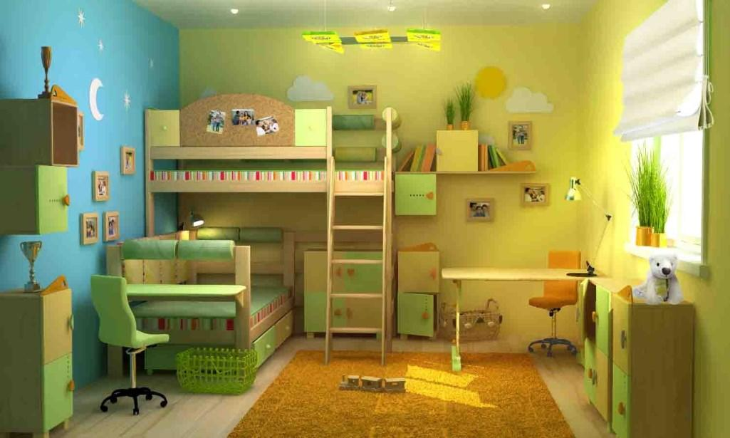 Для детей разного возраста комнату лучше оформлять в нескольких цветовых гаммах