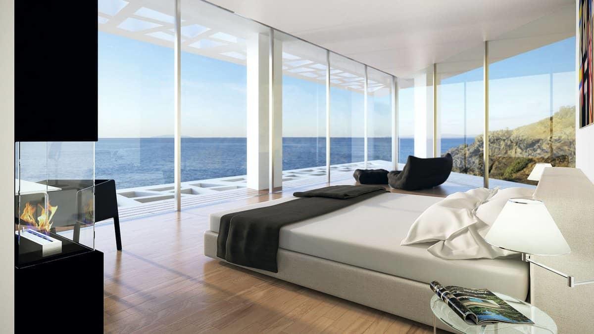 Панорамные окна делают помещение максимально светлым и просторным
