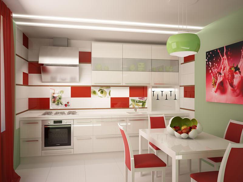 Добавить в плиточную мозаику новых цветов - отличное решение, способное кардинально изменить дизайн кухни
