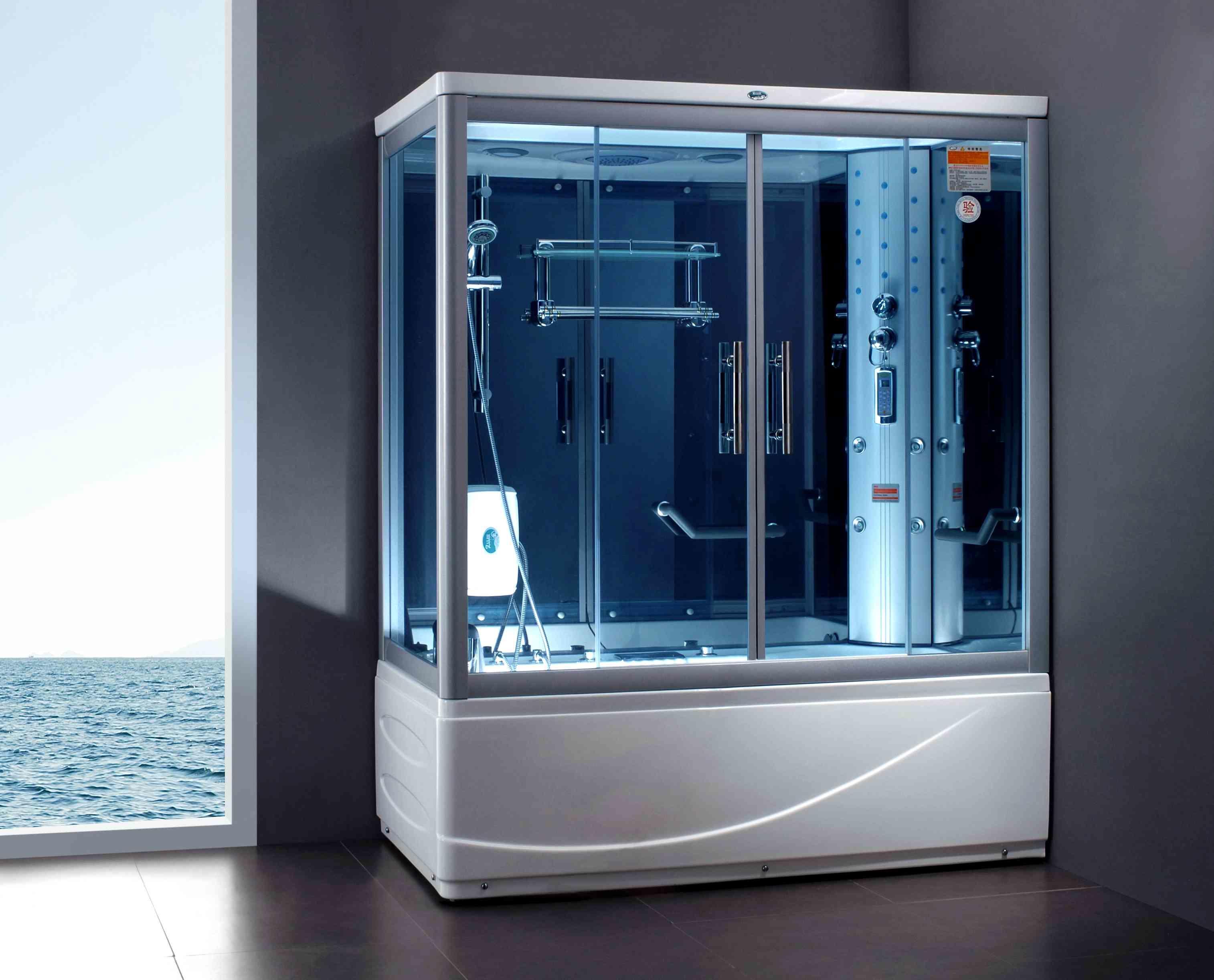 Германские изготовители душевых кабинок продемонстрированы брендами Hueppe, Kermi, CRW и Hyber