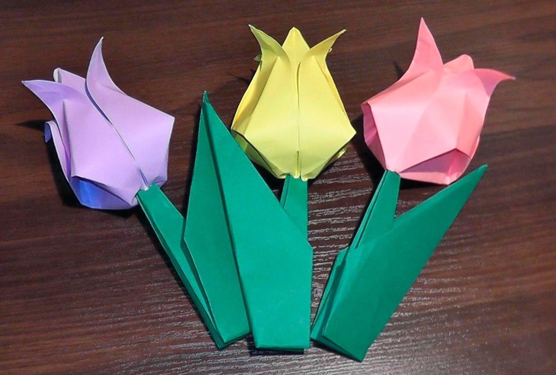 это оригами своими руками из цветной бумаги пары, которые