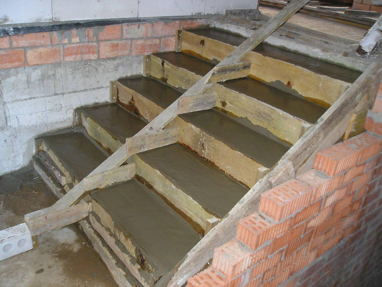 заливка ступеней бетоном своими руками
